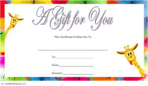 Free Baby Shower Voucher Gift Template | Gift Certificate in Quality Baby Shower Gift Certificate Template