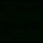 Free Babysitting Coupon Template | Coupon Template In Quality Free Printable Babysitting Gift Certificate