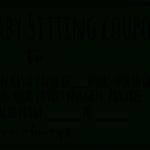 Free Babysitting Coupon Template | Coupon Template With New Babysitting Gift Certificate Template