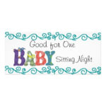 Free Babysitting Gift Certificate Template, Download Free Throughout Babysitting Gift Certificate Template