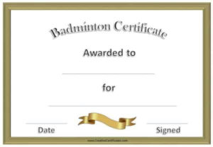 Free Badminton Certificate Template – Customize Online throughout Badminton Certificate Templates