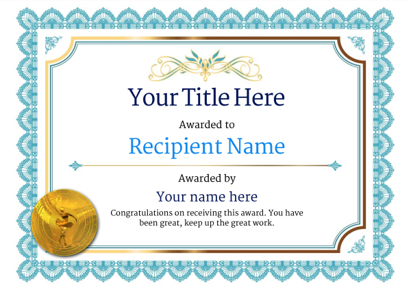Free Ballet Certificate Templates - Add Printable Badges with Dance Certificate Template