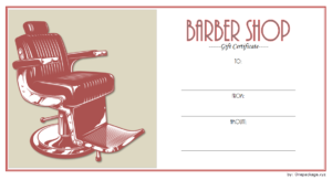 Free Barber Shop Gift Certificate Template 1 | Printable within Barber Shop Certificate Free Printable 2020 Designs
