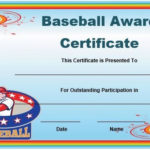 Free Baseball Award Certificate Template Word | Awards Intended For Best Baseball Achievement Certificates