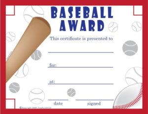 Free Baseball Certificates – Printable Baseball Certificate intended for Quality Baseball Award Certificate Template