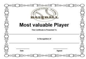Free Baseball Mvp Certificate Template | Certificate with regard to Quality Mvp Certificate Template