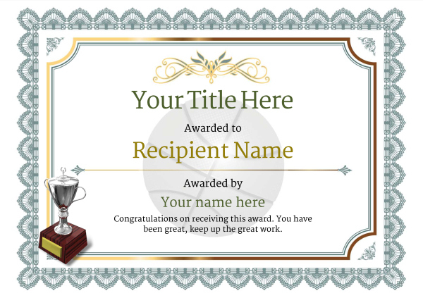 Free Basketball Certificate Templates - Add Printable Badges for Basketball Tournament Certificate Template Free