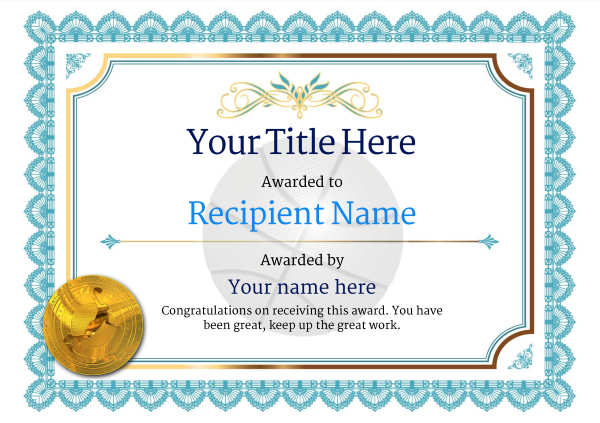 Free Basketball Certificate Templates - Add Printable Badges throughout Basketball Tournament Certificate Template
