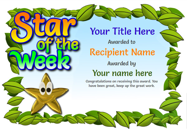 Free Blank Certificate Templates - Unlimited Use in Star Certificate Templates Free