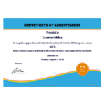 Free Certificate Of Achievement Template – Pdf Templates For New Certificate Of Accomplishment Template Free