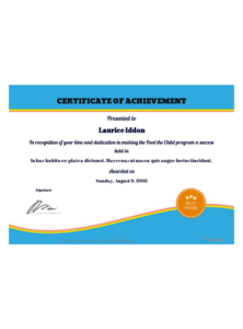 Free Certificate Of Achievement Template – Pdf Templates throughout Certificate Of Achievement Template For Kids