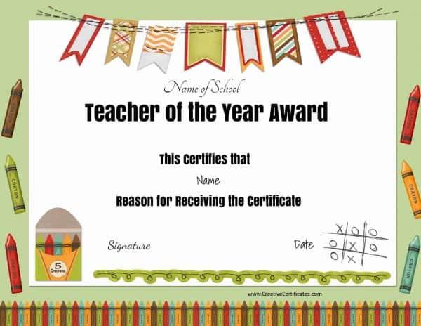 Free Certificate Of Appreciation For Teachers | Customize Online throughout Teacher Appreciation Certificate Free Printable