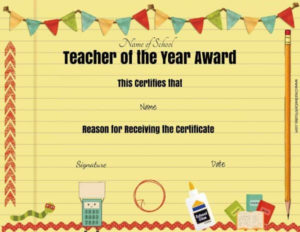 Free Certificate Of Appreciation For Teachers | Customize Online within Teacher Of The Month Certificate Template
