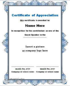 Free Certificate Of Appreciation Template Downloads (5 pertaining to Quality Felicitation Certificate Template