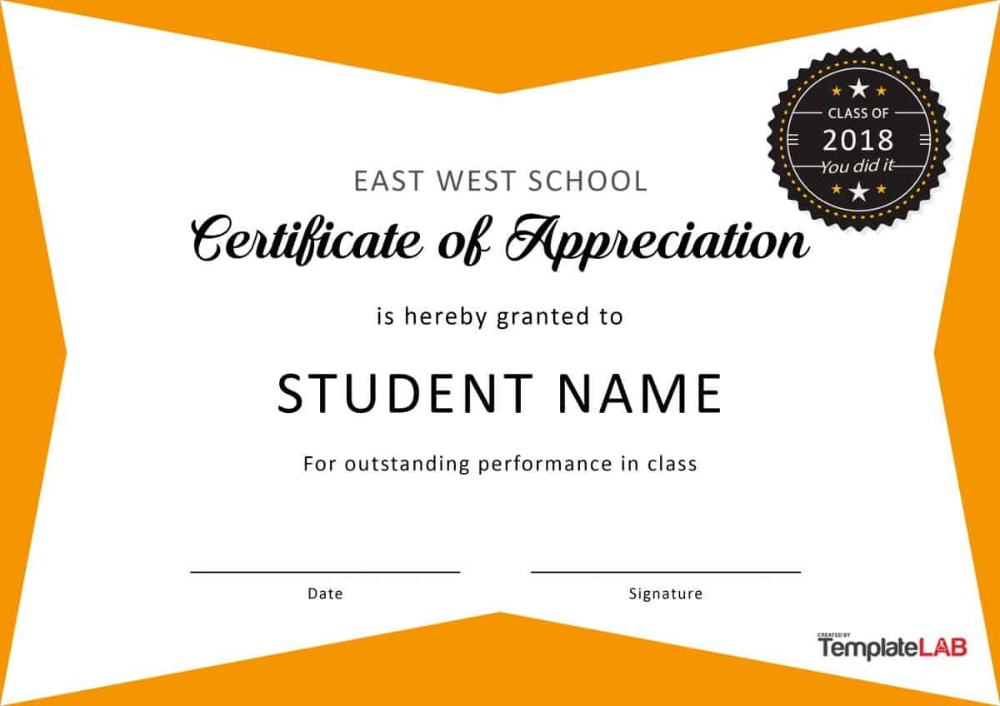 Free Certificate Of Appreciation Templates And Letters In inside Quality Felicitation Certificate Template