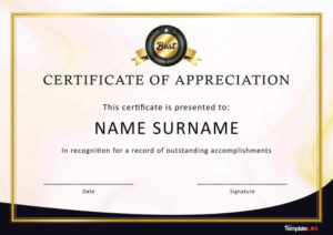 Free Certificate Of Appreciation Templates And Letters with regard to Felicitation Certificate Template