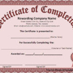 Free Certificate Of Completion Template – Free Formats Excel Pertaining To Certification Of Completion Template