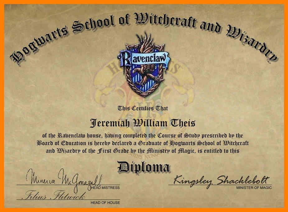 Free Certificate Of Hogwarts To Download And Use Harry with Quality Harry Potter Certificate Template