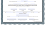 Free Certificate Of Stock Template - Corporate Stock inside Fresh Corporate Share Certificate Template