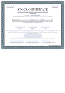 Free Certificate Of Stock Template – Corporate Stock Inside Fresh Corporate Share Certificate Template