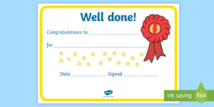 Free! – Certificate Template To Download – Well Done Certificate pertaining to Well Done Certificate Template