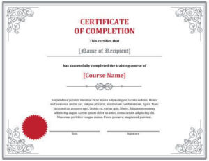 Free Certificate Templatehloom | Free Certificate intended for Class Completion Certificate Template