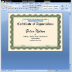 Free Certificate Templates For Word 2007 (4) - Templates with regard to Award Certificate Templates Word 2007
