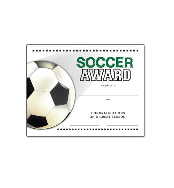 Free Certificate Templates For Youth Athletic Awards for Soccer Certificate Templates For Word