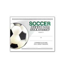 Free Certificate Templates For Youth Athletic Awards in Soccer Award Certificate Template