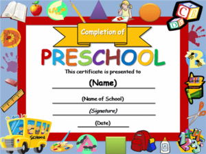 Free Certificate Templates   Templates Certificates throughout Quality Preschool Graduation Certificate Free Printable