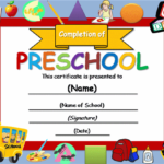 Free Certificate Templates   Templates Certificates With Regard To Editable Pre K Graduation Certificates