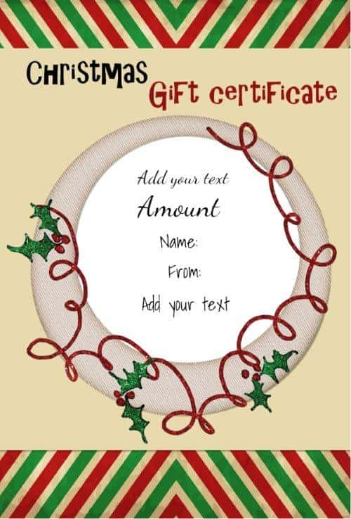 Free Christmas Gift Certificate Template | Customize Online inside Best Free Christmas Gift Certificate Templates