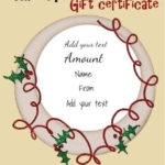 Free Christmas Gift Certificate Template | Customize Online With Best Christmas Gift Certificate Template Free