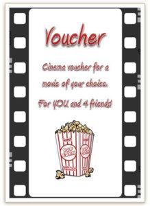 Free Cinema Voucher Template   Gift Certificate Template throughout Movie Gift Certificate Template