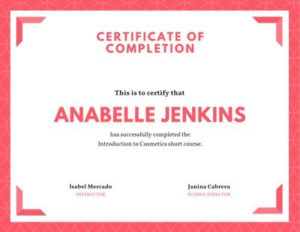 Free Course Certificates Templates To Customize | Canva intended for Best Training Course Certificate Templates
