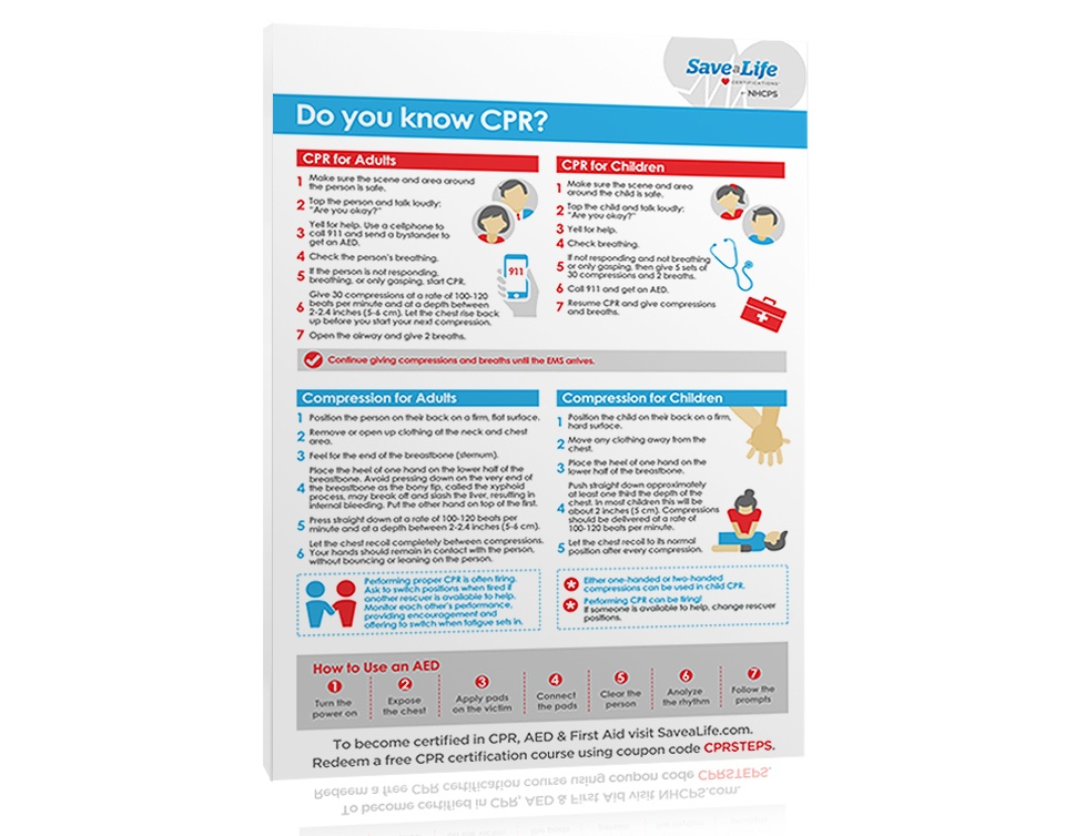 Free Cpr Steps Poster -Savealife - Download Now for New First Aid Certificate Template Top 7 Ideas Free