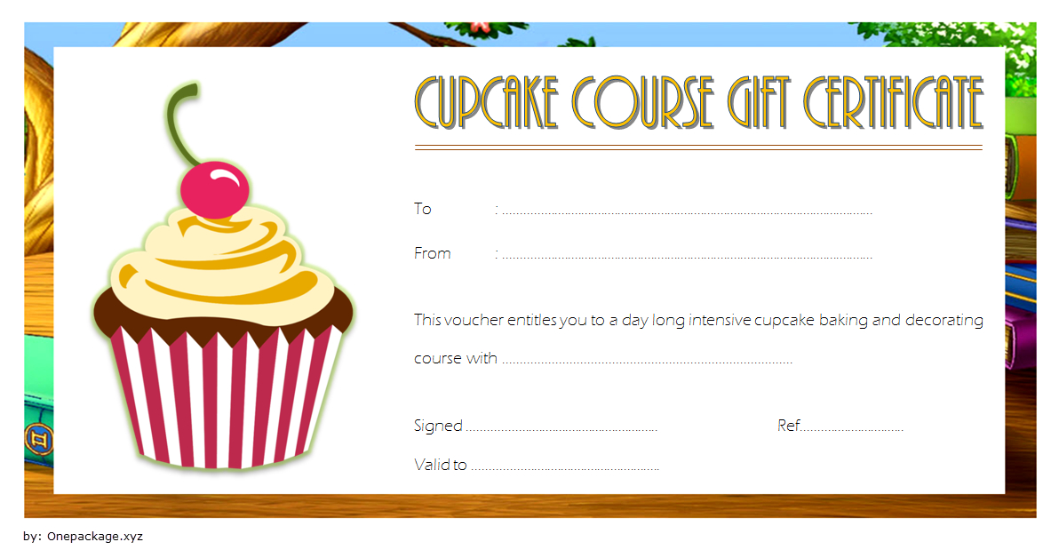 Free Cupcake Gift Certificate Template 1   Gift Certificate for Quality Cupcake Certificate Template Free 7 Sweet Designs