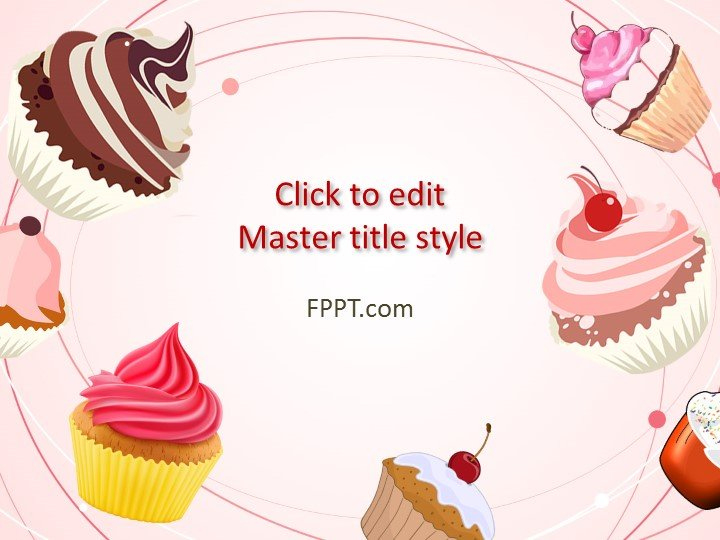 Free Cupcakes Powerpoint Template - Free Powerpoint Templates regarding Quality Cupcake Certificate Template Free 7 Sweet Designs