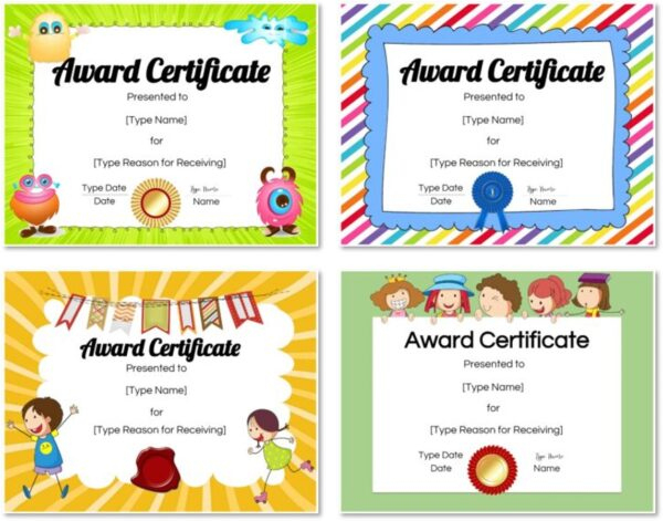 Free Custom Certificates For Kids | Customize Online & Print in Free Kids Certificate Templates