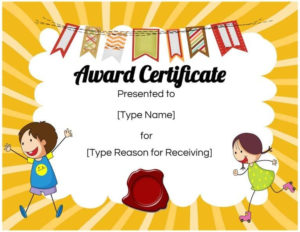 Free Custom Certificates For Kids | Customize Online & Print pertaining to Best Bravery Certificate Template 10 Funny Ideas