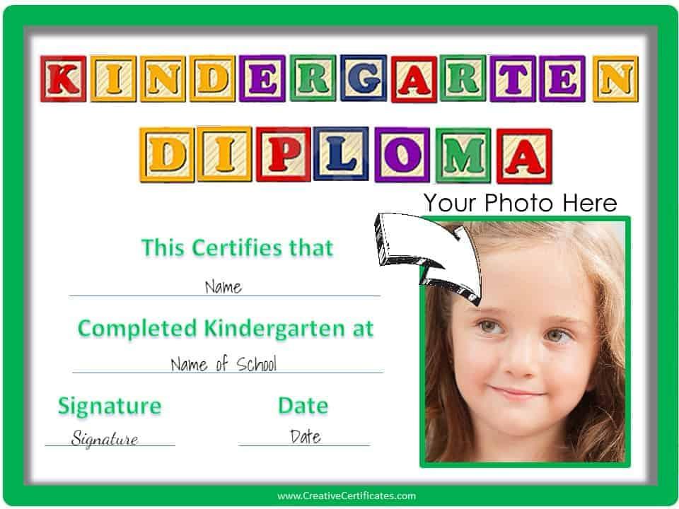 Free Custom Kindergarten Graduation Certificates inside Quality Kindergarten Certificate Of Completion Free