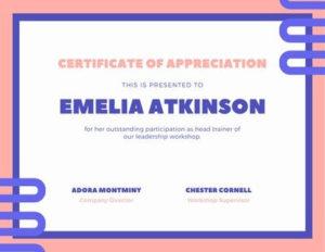 Free, Custom Printable Appreciation Certificate Templates for New In Appreciation Certificate Templates