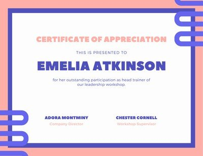 Free, Custom Printable Appreciation Certificate Templates intended for New Thanks Certificate Template