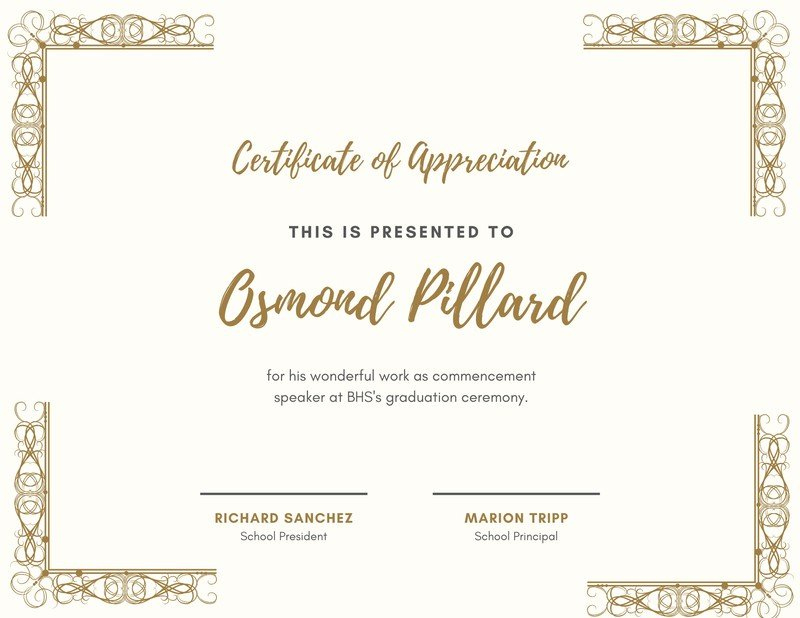 Free, Custom Printable Appreciation Certificate Templates with regard to New In Appreciation Certificate Templates