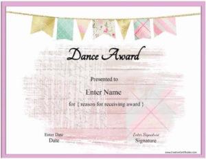 Free Dance Certificate Template – Customizable And Printable for Dance Certificate Template