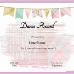 Free Dance Certificate Template – Customizable And Printable Pertaining To Quality Dance Award Certificate Templates