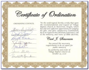 Free Deacon Ordination Certificate Template | Vincegray2014 intended for Unique Certificate Of Ordination Template