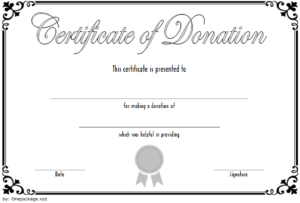 Free Donation Certificate Template 4 | Two Package Template with regard to New Donation Certificate Template Free 14 Awards