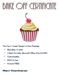 Free Download The Top 7+ Extraordinary Templates Of with regard to Quality Cupcake Certificate Template Free 7 Sweet Designs