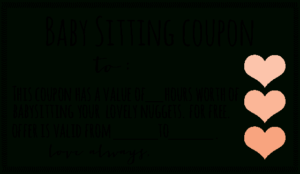 Free Downloadable Babysitting Coupon! :) Might Start Giving intended for New Babysitting Certificate Template 8 Ideas